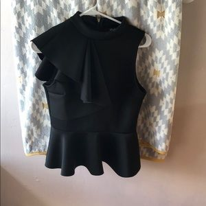 Black ruffle LuLu cute top